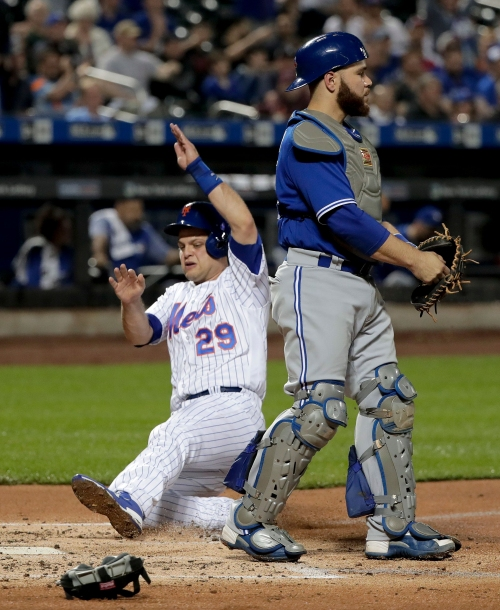 NY Mets catcher Devin Mesoraco shows offensive potential in blowout win over Blue Jays
