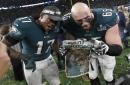 Bill Belichick, Robert Kraft were 'talking (expletive)' to Philadelphia Eagles before Super Bowl, says Lane Johnson