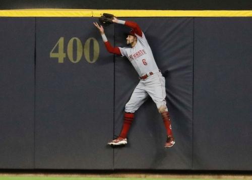 Cincinnati Reds center fielder Billy Hamilton likes to roam big outfield in San Francisco