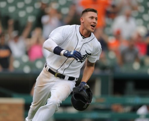 Detroit Tigers' JaCoby Jones leaves game with hip contusion