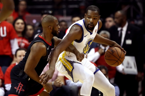 Kevin Durant jaws with Chris Paul's brother in Warriors' loss to Rockets