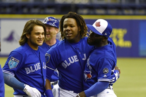 Are the Blue Jays moving Vladimir Guerrero Jr. to triple-A today?
