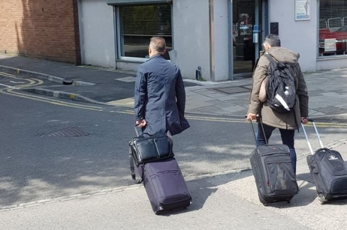 Pictures appear to show Swansea City boss Carlos Carvalhal heading for station with packed bags but club remain silent