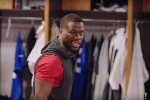 VIDEO: Kevin Hart and Scott Eastwood at LA Rams training camp