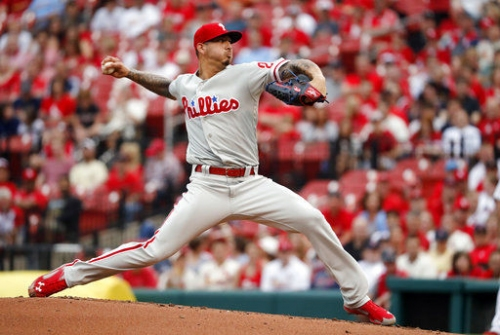 Velasquez, homers help Phillies top Cardinals