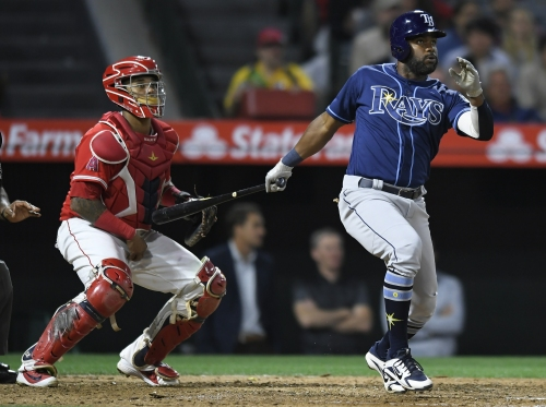Angels drop ugly game to Rays, including an injury scare for Justin Upton
