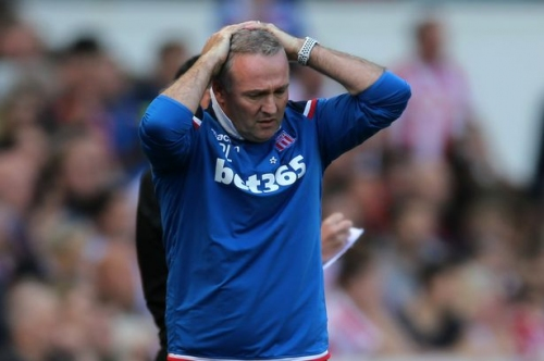 Paul Lambert is out of work after leaving relegated Stoke City