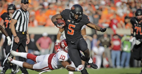 Oklahoma State RB Justice Hill picked as Heisman dark horse by Sports Illustrated