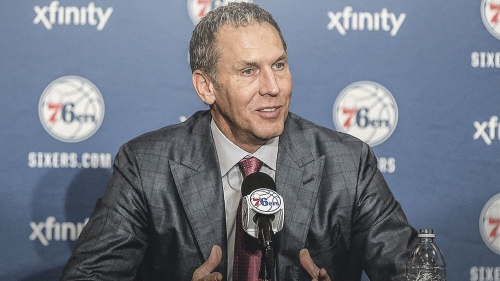 Sixers GM Bryan Colangelo wants more talent but it doesn't have to be a free agent