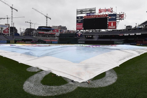 Washington Nationals & Los Angeles Dodgers' series opener postponed by inclement weather... Doubleheader tomorrow...