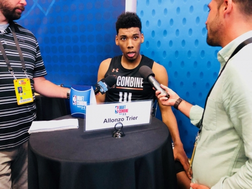 Allonzo Trier at NBA Combine