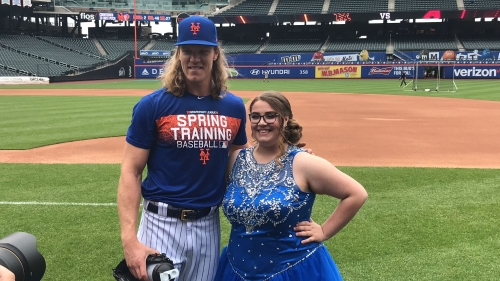 Lifelong Mets fan Callie Quinn has 'prom night' at Citi Field after 500k retweets