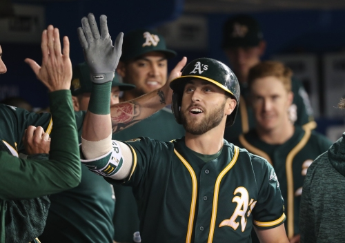 Dustin Fowler breaks out in A's win over Blue Jays