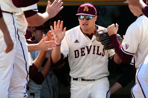 ASU Baseball: Hunter Bishop's big night evens series against Arizona