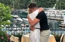 Stoke City star pops question to air hostess girlfriend on Italian getaway