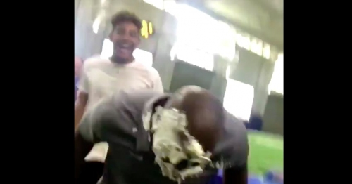 WATCH: Florida assistant Ron English gets pranked by elite recruits, takes pie to the face