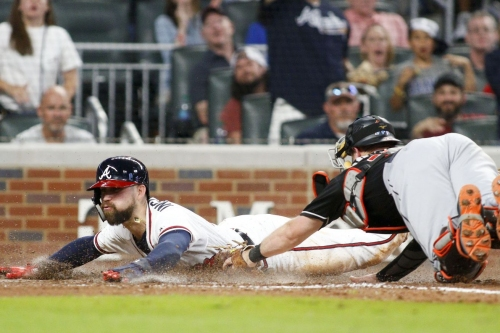 Braves offense awakens in Marlins 8-1 loss