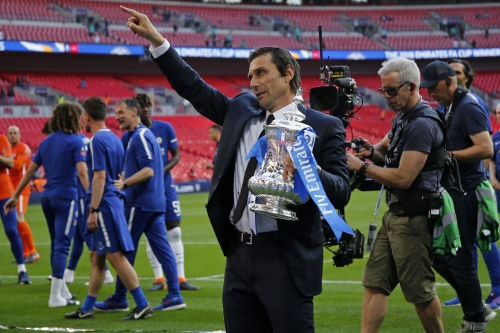 Chelsea fans beg Antonio Conte to stay after FA Cup victory over Manchester United