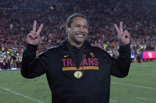 Troy Polamalu gets inducted into the USC Athletic Hall of Fame