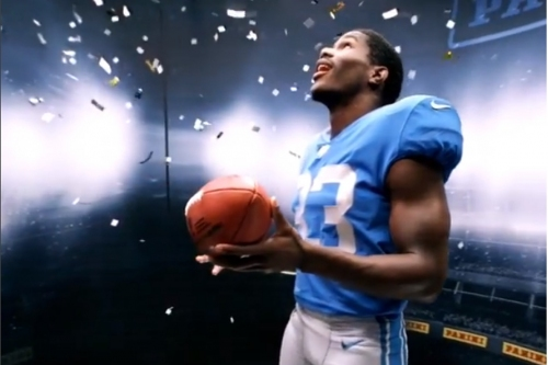 VIDEO: First look at Lions rookie RB Kerryon Johnson in a throwback jersey