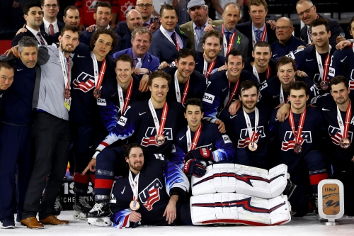Red Wings' Dylan Larkin helps U.S. best Canada for bronze at Worlds