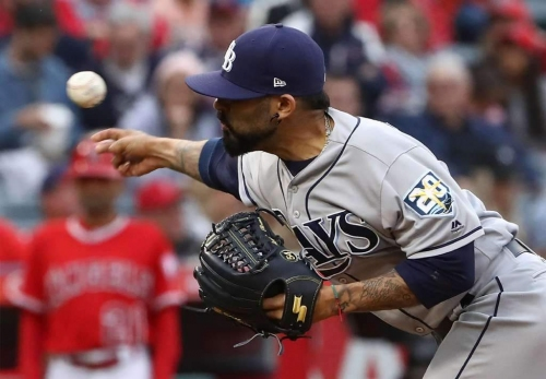 For starters: Rays at Angels, with Romo again as