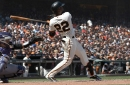 Giants' Andrew McCutchen sits with a sore knee