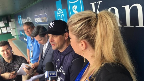 Yankees manager Aaron Boone talks about keeping Didi Gregorius & Gary Sanchez on bench