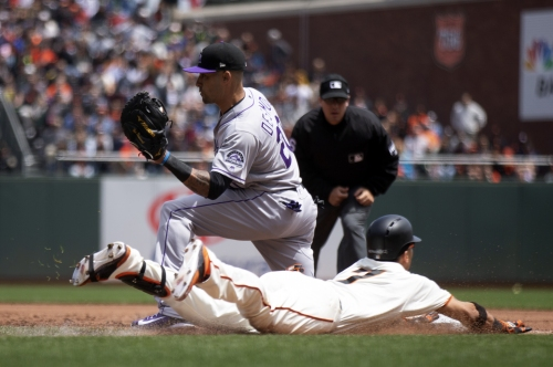 Giants' Belt belts Rockies as homestand finishes on winning note