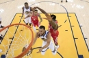 Curry comes alive to score 35, Warriors rout Rockets by 41, take 2-1 series lead