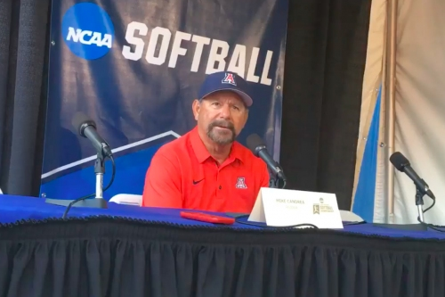 WATCH: Mike Candrea on UA's win vs. Miss. State, advancing to Super Regionals