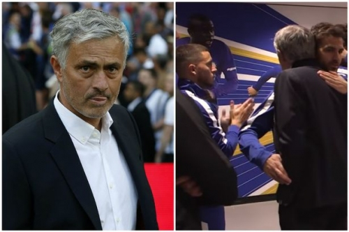 Manchester United manager Jose Mourinho's frosty Eden Hazard moment at FA Cup final