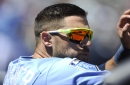 There's a swing by Rays CF Kevin Kiermaier .... and a gender reveal for November baby