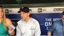 Yankees manager Aaron Boone talks about Neil Walker's first start this year at third base