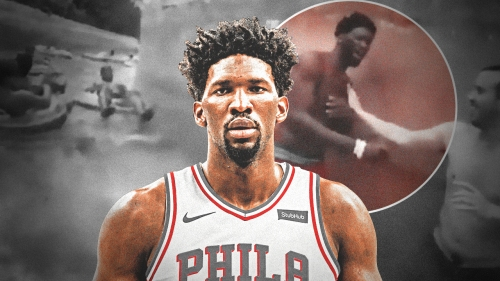 Video: Joel Embiid nearly drowns in lazy river