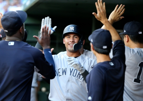 Gleyber Torres's two shots off Bartolo Colon leads Yankees' home run parade at Texas