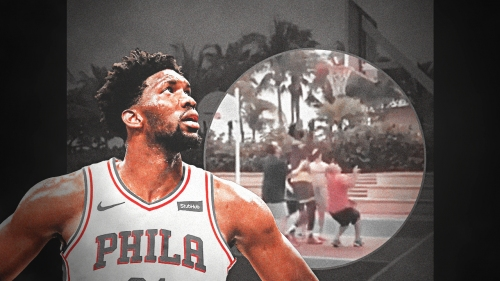 Video: Joel Embiid plays ball with locals in the Bahamas