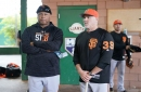 Brandon Belt, Alonzo Powell excited to show off new accessories