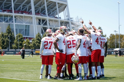 Day 2 of 49ers OTAs features Mike McGlinchey in starting lineup, Solomon Thomas stepping up