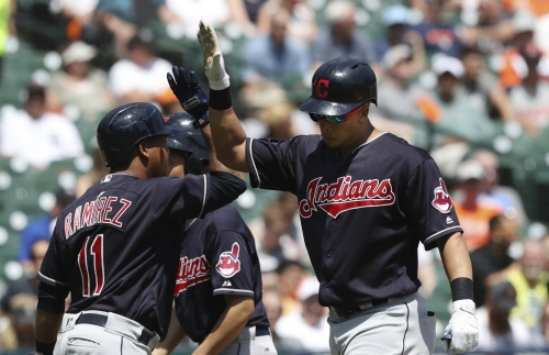 Jose Ramirez drills his 14th home run, giving Cleveland Indians an early lead vs. Chicago Cubs