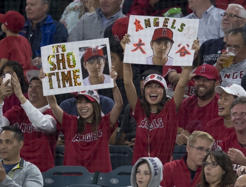 Watch Angels' Shohei Ohtani hit another home run during batting practice