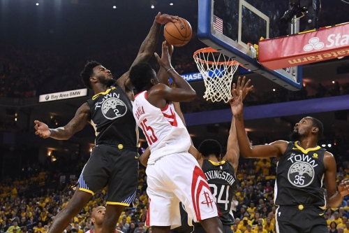Warriors vs Rockets, Game 4 halftime score: Houston leads by seven
