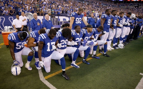 Colts on NFL's new anthem policy: 'Obviously, we're keeping an eye' on it