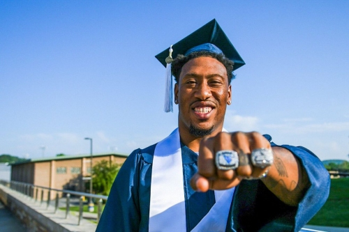 Bruce Irvin puts college degree up there with Super Bowl: 'that's one thing they can't take from me'