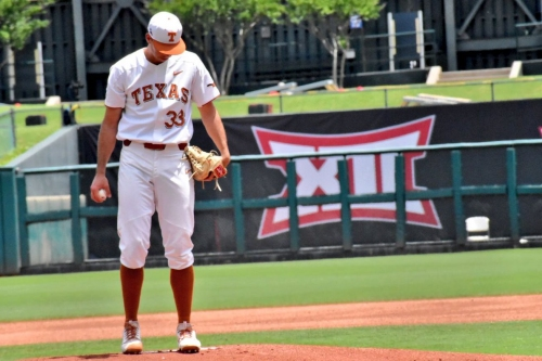 No. 12 Texas baseball's offense falls flat in 3-2 loss to Kansas in opening round of Big 12 tournament