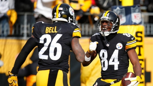 Steelers WR Antonio Brown advising Le'Veon Bell to 'come out here and show up'