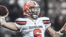 Baker Mayfield tosses 3 interceptions during Browns OTA on Wednesday