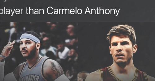 Thunder news: Carmelo Anthony goes off on IG post saying Kyle Korver is better than him