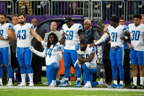 Detroit Lions mum on national anthem rule, President Trump comments