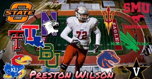 Four Big 12 schools make top 11 for Texas tackle Preston Wilson